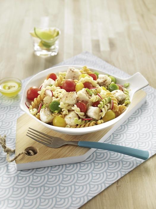 recette de Salade de pâtes au merlu