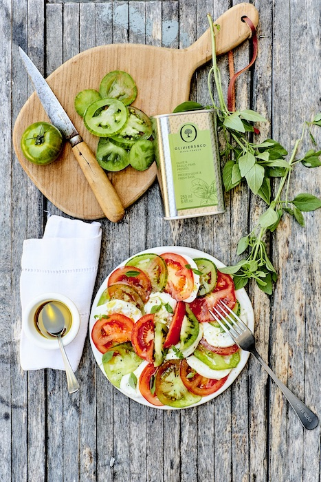 recette de Salade de tomates vertes et feta