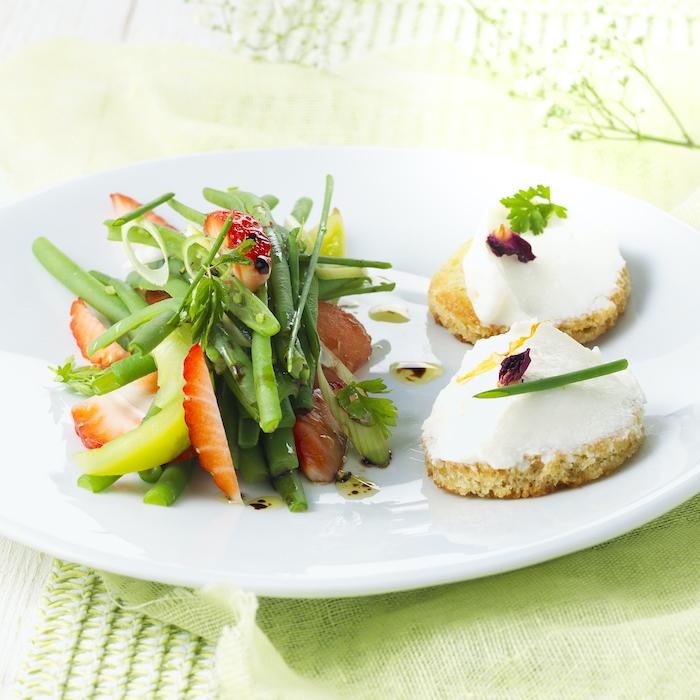 recette de Salade de haricots verts et fraises