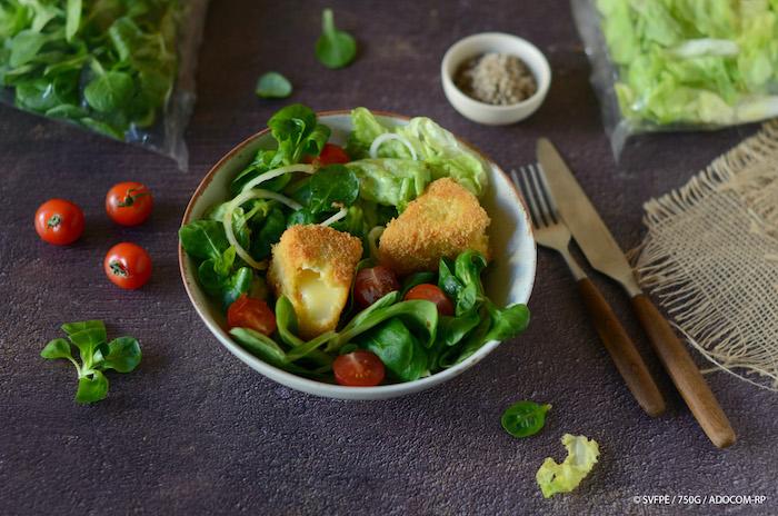 recette de Feuilles de chêne au camembert pané
