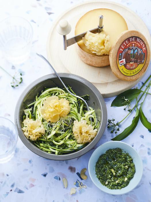 recette de Spaghetti de courgettes au pesto