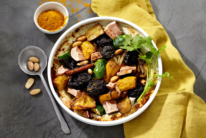 recette de Tajine de thon aux courgettes