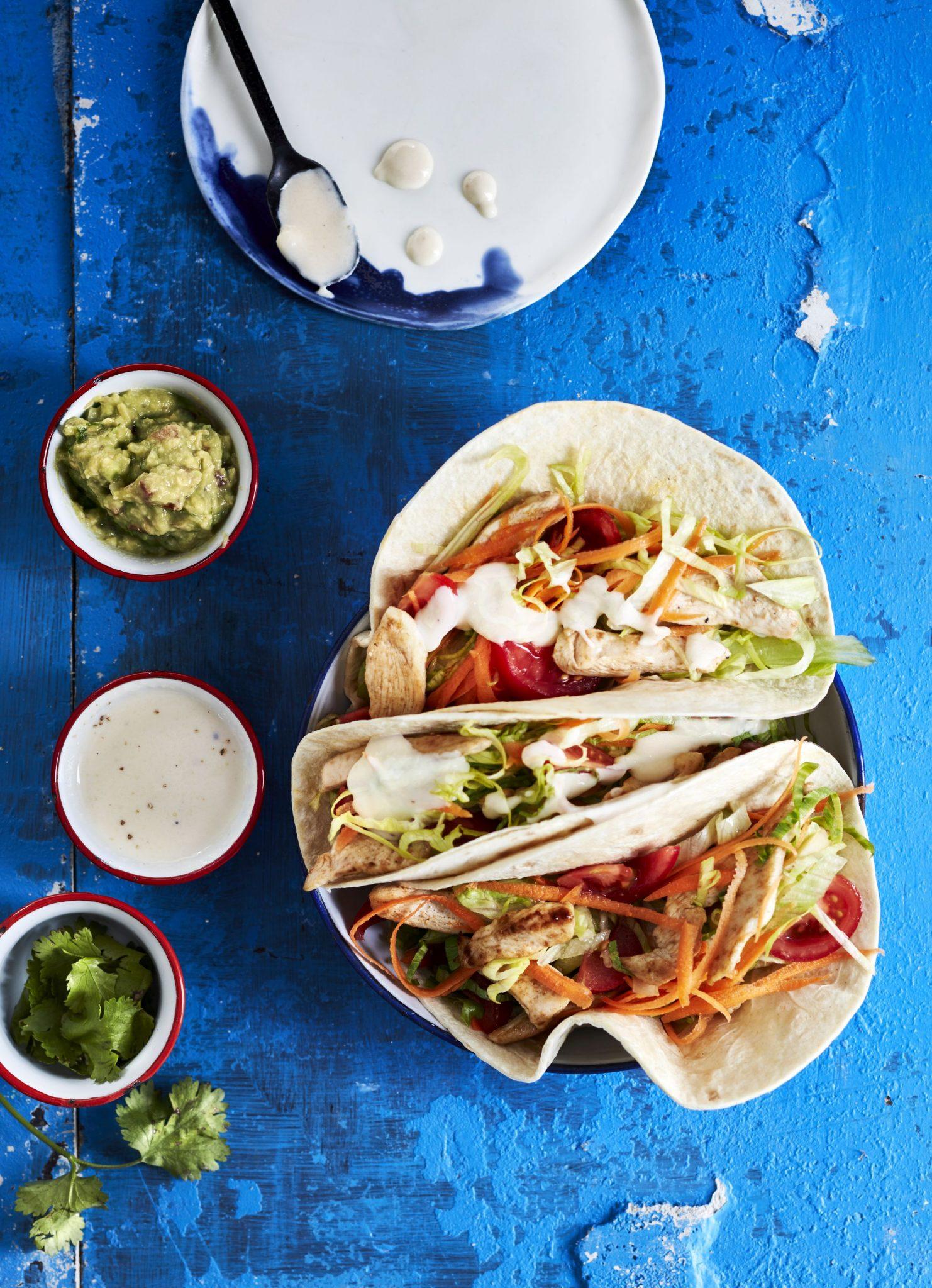 recette de Tortillas au poulet et guacamole