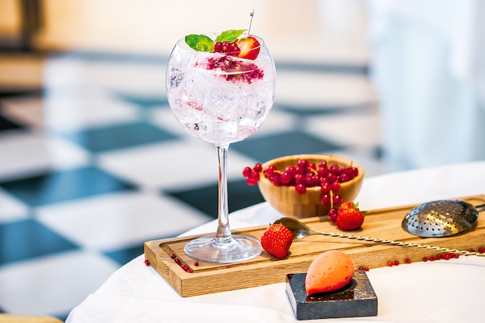 cocktail pairing Gin et sorbets