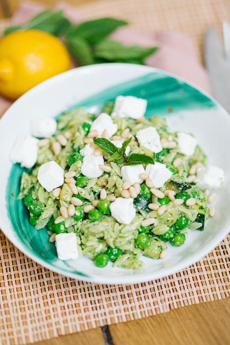 recette de Salade d'orzo toute verte