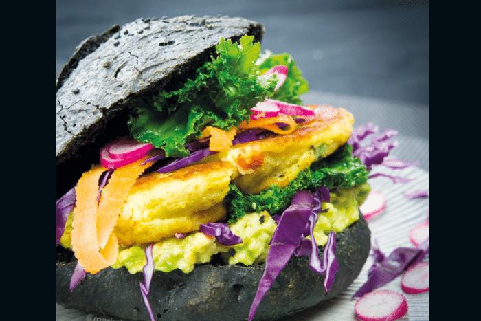 Aloo tikki black burger
