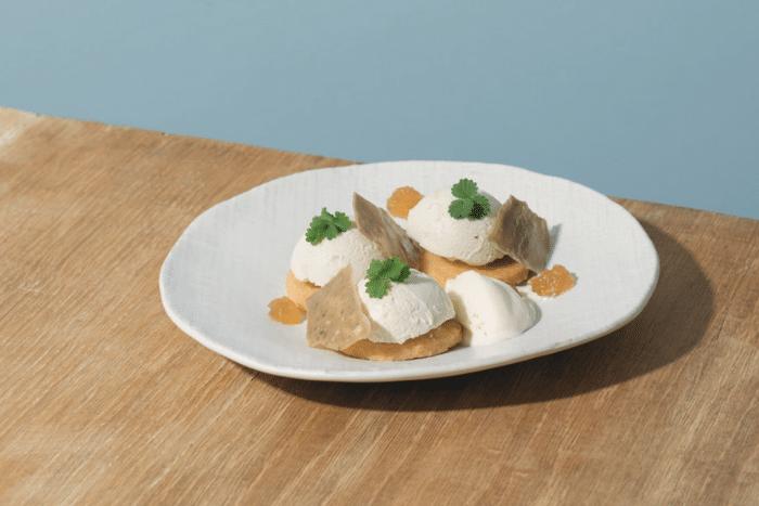 dessert au bleu d'Auvergne
