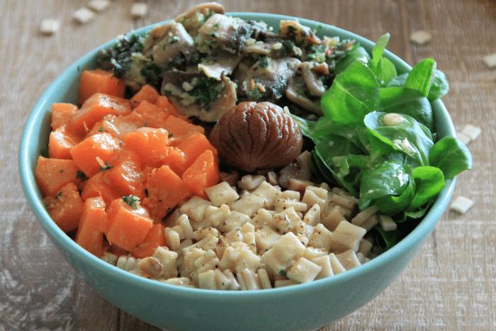 Veggie bowl au chèvre frais