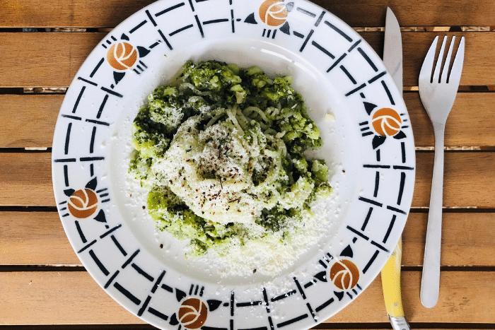 Spaghetti aux brocolis crémeux