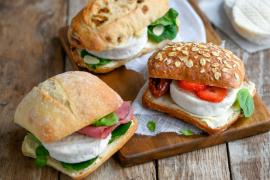 Mini sandwichs au Cabécou