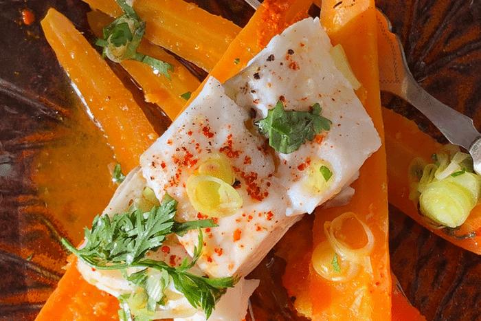 Cabillaud et carottes