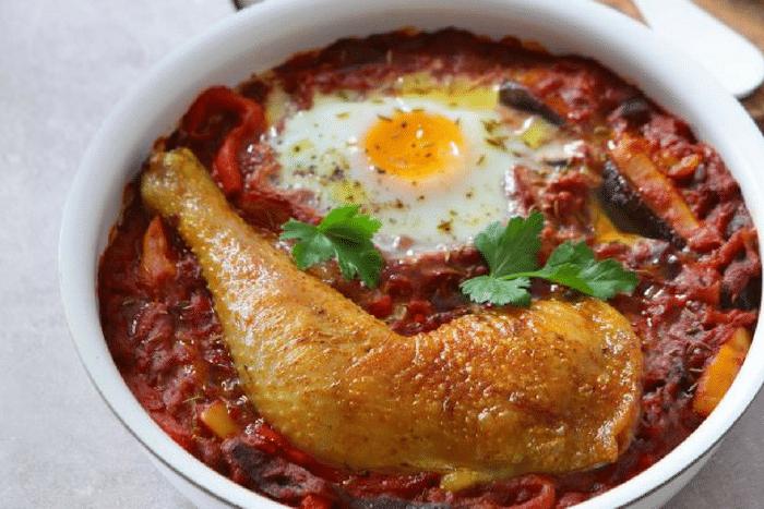 Chatchouka aux cuisses de poulet