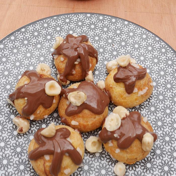 recette de Chouquettes à la vanille et au Nutella