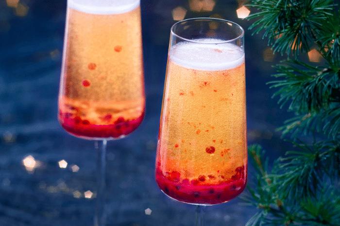 Cocktail de fête au champagne