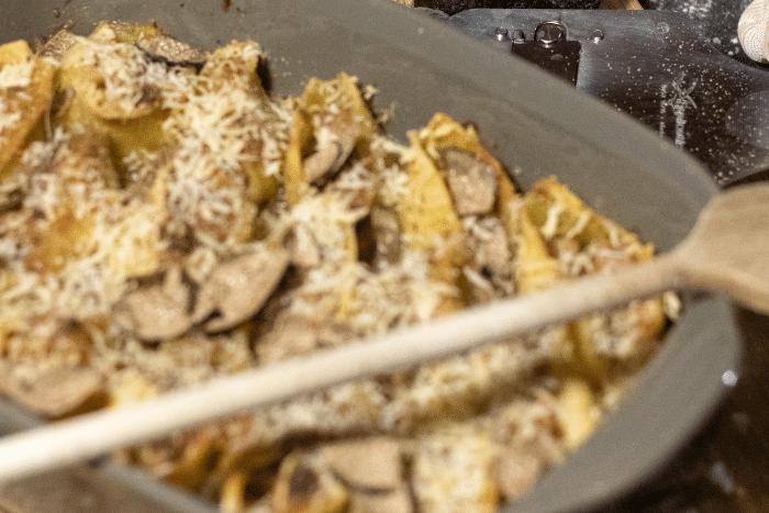 Conchiglioni à la crème d'artichauts et de truffe