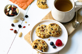Cookies à l'avoine et aux fruits secs