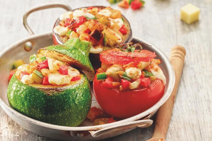 Petits légumes farcis au Beaufort