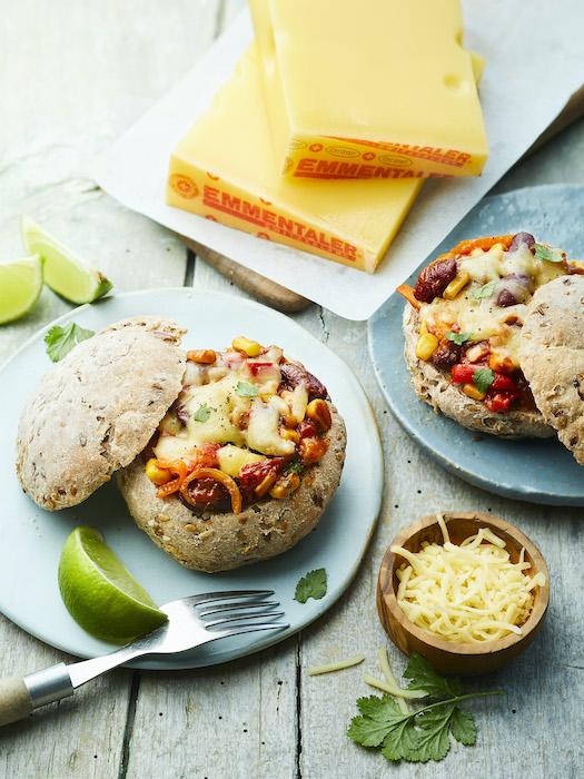 recette de Pains farcis au chili végétarien