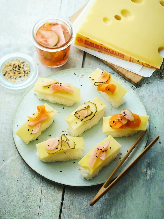 recette de Sushi de riz à l'Emmentaler