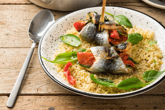 Filets de sardines farcis aux tomates