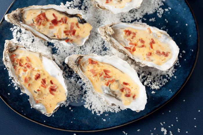 Huîtres chaudes au jambon