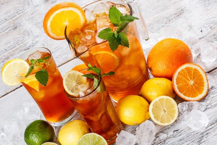 Les boissons fraîches de l'été