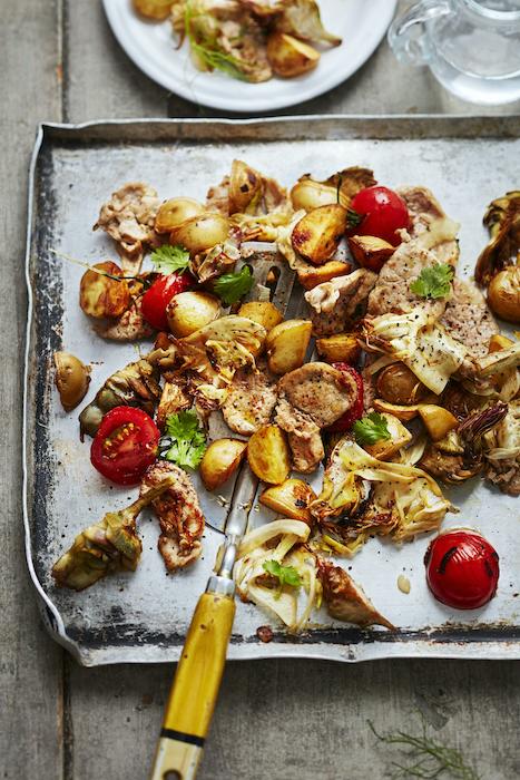 recette de Sauté de porc aux légumes à la plancha