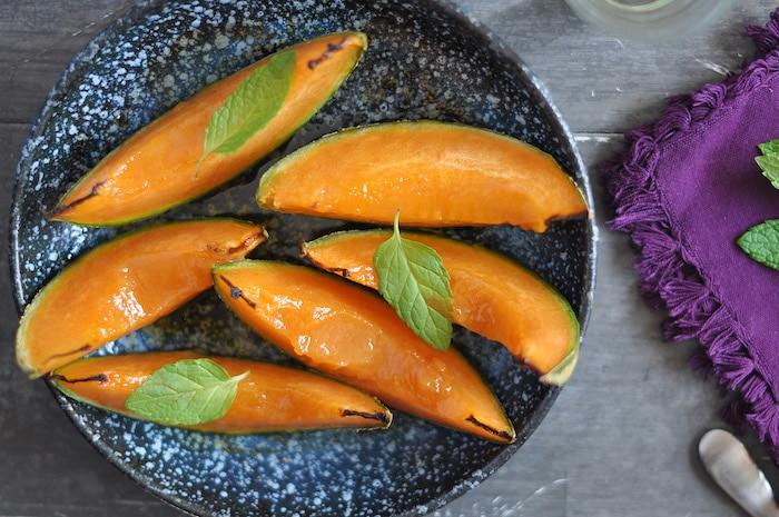 Melon rôti au sirop d'érable