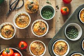 Muffins aux courgettes et fromage de brebis