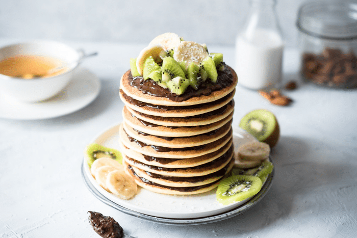 Pancakes au lait d'amandes