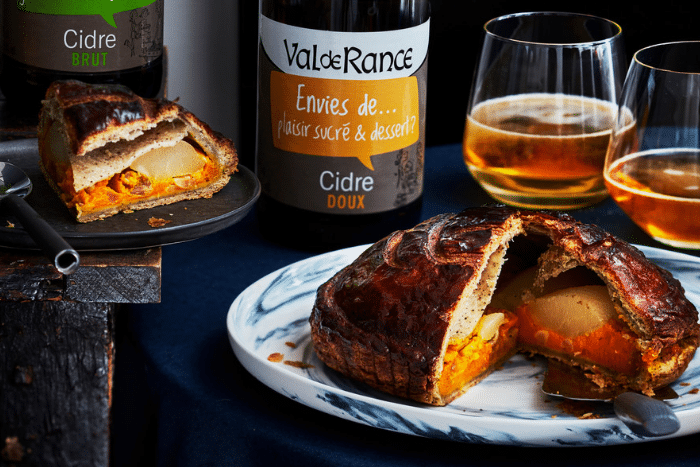 Galette potimarron-poire et cacahuète