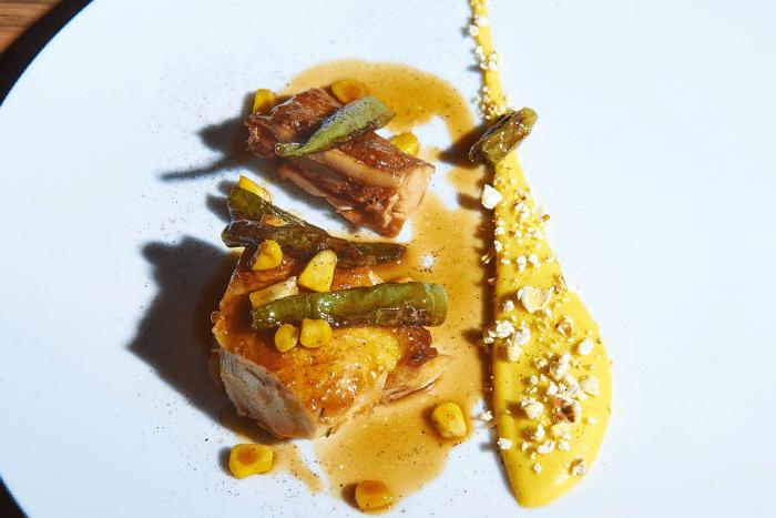 Poulet jaune à la crème de maïs