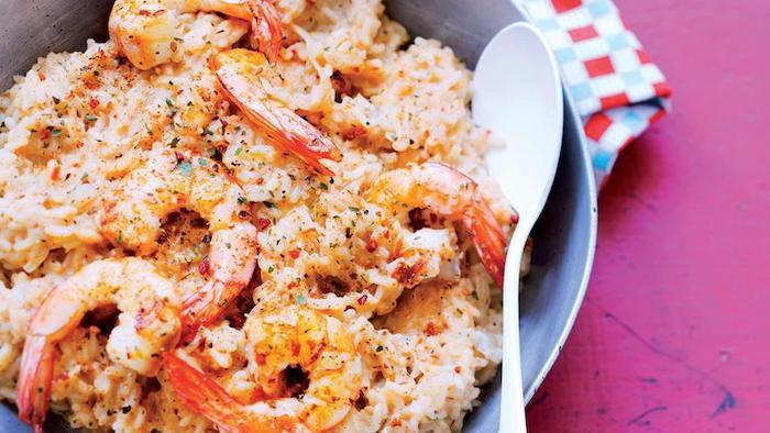recette de Risotto de crevettes au curry
