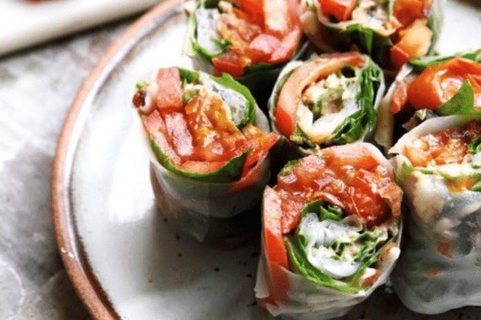 Rouleaux de printemps aux tomates