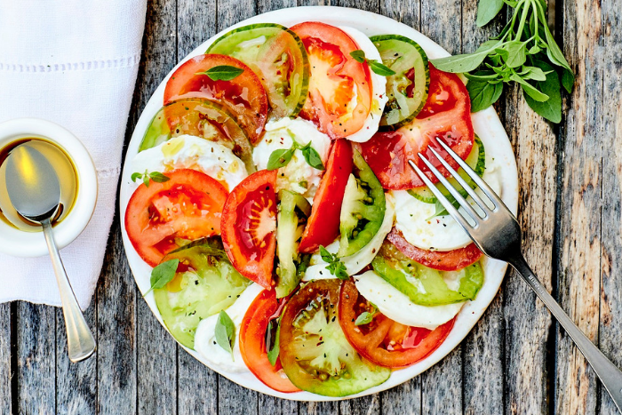 Salade de tomates vertes et feta