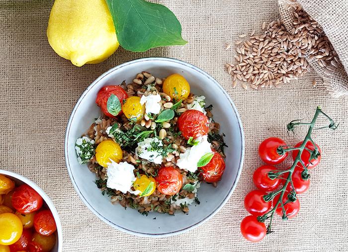 recette de Salade de farro aux tomates confites
