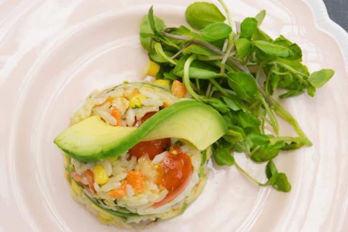 Salade de riz au boeuf