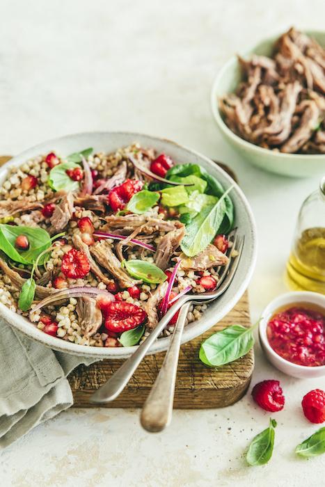 recette de Salade de sarrasin au confit de canard