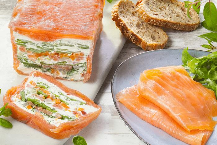 Terrine de saumon fumé aux légumes