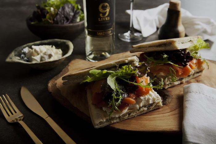 Sandwiches au saumon fumé