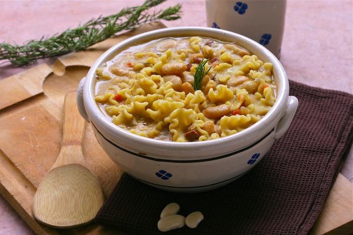 Soupe de Haricots Tarbais à l'Italienne