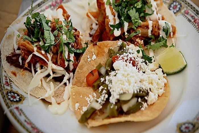 Tacos au poulet au Tabasco
