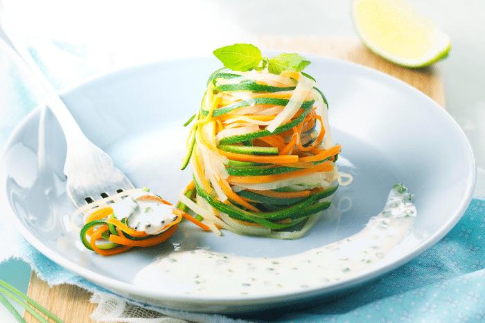 Tagliatelles de légumes au St Môret
