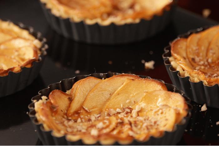 Tartelettes aux pommes au caramel salé