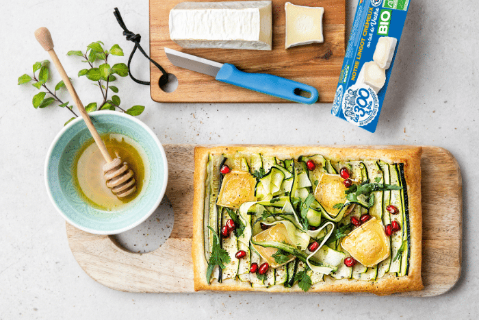 Tarte express aux courgettes