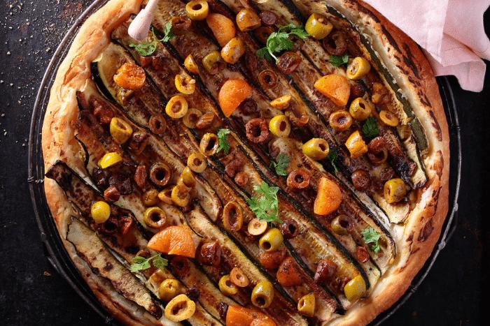 Tarte courgettes et olives