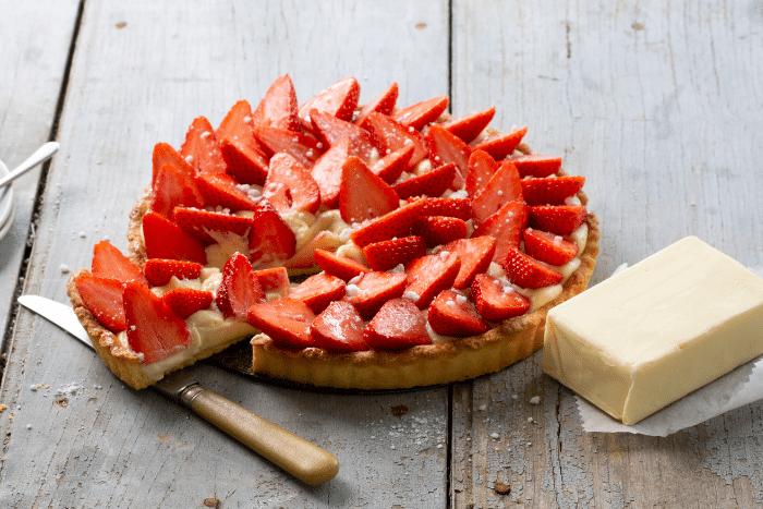 Tarte aux fraises sur sablé
