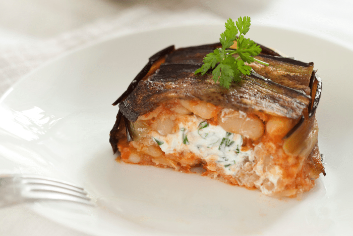 Timbales d'aubergines farcies