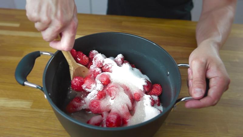 mélanger le sucre