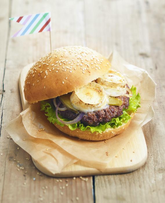 recette de Burger à la bûche de chèvre